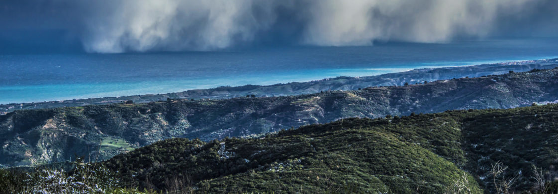 calabria view nature hills mountains